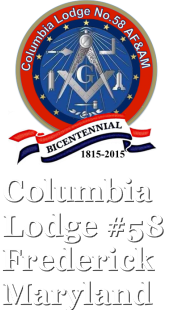 Columbia Lodge #58 Frederick, Maryand